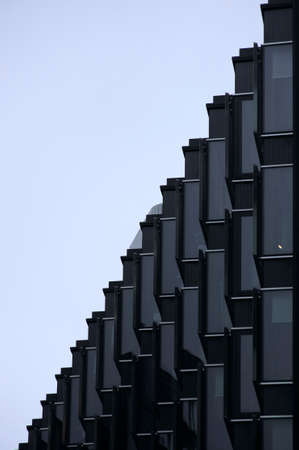 interleaved: Window under a roof are interleaved.
