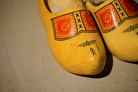 clogs: Traditional Dutch clogs with a colorful painting.