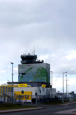 hertz: Hahn Germany March 31 2015: The car rental company Hertz in front of the Tower Airport Frankfurt Hahn Airport on March 31 2015 Hahn.