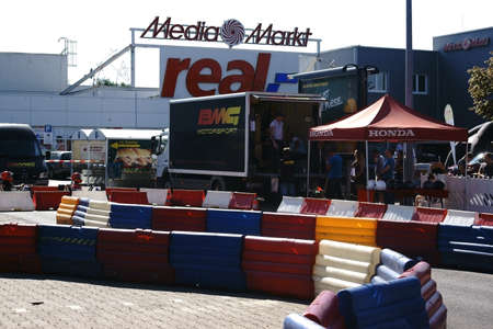 gutenberg: Mainz, Germany - August 28, 2015: A motorsport event from BMG Motorsport in the parking lot of the Gutenberg Center on August 28, 2015 in Mainz.