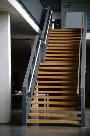 first floor: A staircase in a school building from the ground floor to the first floor.