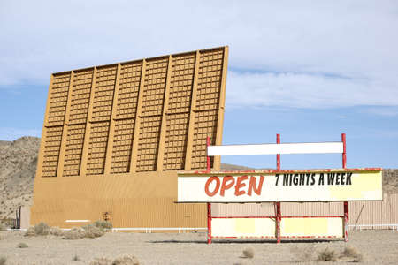 openair: A drive-in cinema in the Mojave Desert near Barstow.