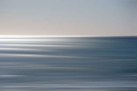 oceanside: The smooth drawn water from Oceanside in backlit or against the light.