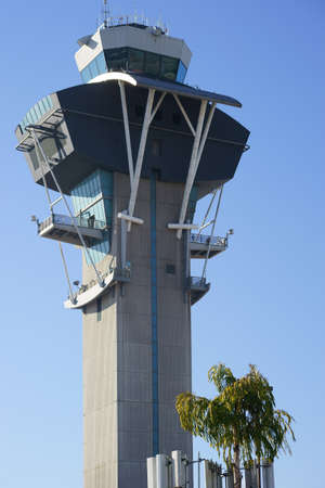 lax: The lookout tower of LAX airport in Los Angeles.