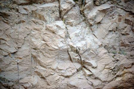 Sharp rocks of Black Canyon at Hoover Dam via Closeup.