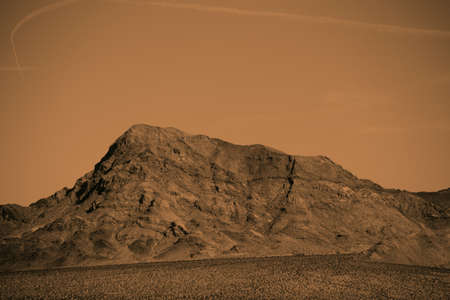 near death: A rough mountain in the Mojave Desert near Death Valley Junction.