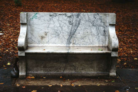 ide: Berkeley, United States - December 21, 2015: A bench with a memorial inscription for the former president of the University of Berkeley Benjamin Ide Wheeler on December 21, 2015 in Berkeley. Editorial
