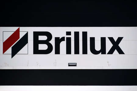 coatings: Mainz, Germany - July 08, 2016: The branch of the Brillux color a direct provider of paint supplies with logo on July 08, 2016 in Mainz.