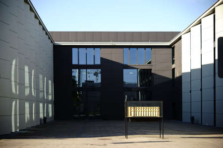 gutenberg: Mainz, Germany â € October 15, 2016: The new and modern building of the College of Music on the campus of the Johannes Gutenberg University on October 15, 2016 in Mainz. Editorial