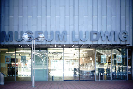 dada: Cologne, Germany - November 24, 2016: The entrance of the Museum Ludwig, an art exhibition of modern art of the 20th and 21st century on November 24, 2016 in Cologne. Editorial
