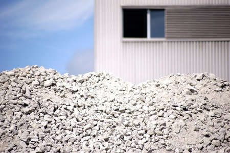 A pile of poured and crushed concrete rubble.
