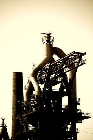 The foundry plants and blast furnaces of the former ironworks in Neunkirchen. Reklamní fotografie