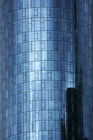 The tinted windows of the Comerzbank Tower in Frankfurt am Main.
