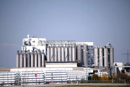 The industrial plants of K?mmerling Chemical factory GmbH in Pirmasens.