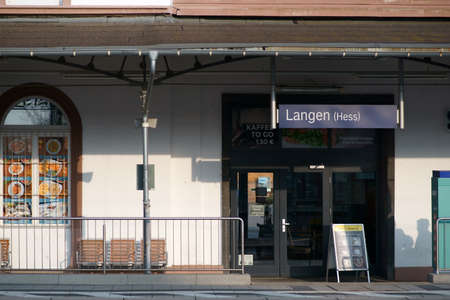 Langen, Germany - March 23, 2019: A kiosk with snack in the station building of the station Langen on March 23, 2019 in Langen.