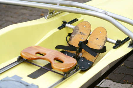 The close-up of a rowing boats seats in rowing sport. Reklamní fotografie