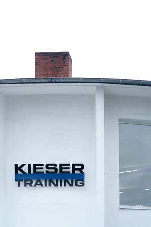 Hanau, Germany - September 07, 2019: The facade of a fitness center, which uses the Kieser training method on September 07, 2019 in Hanau. Editorial