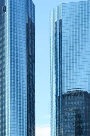 Frankfurt, Germany - July 06, 2019: The Deutsche Bank skyscraper in the financial district and downtown on July 06, 2019 in Frankfurt. Editorial
