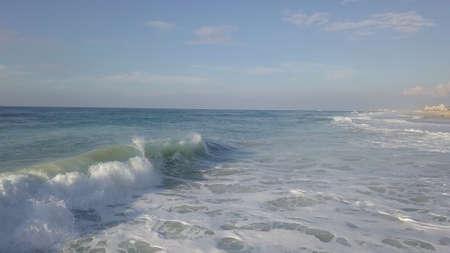 Storm surf at mediterrian sea coast of Israel