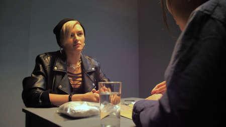 Hooligan behaves calmly during interrogation