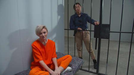 Prison cell in a female prison Reklamní fotografie