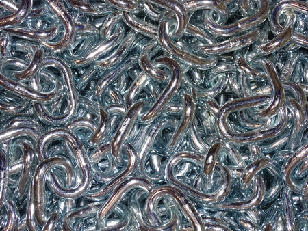 galvanized steel chain Stock Photo