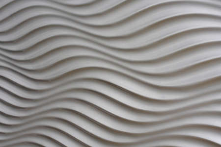 White artistic background whit stripes and waves Stock Photo