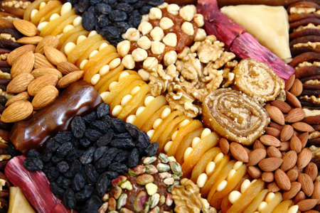 Mix of dry food and desserts