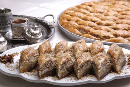 baklawa: Coffe and Baklava on a Ramadan preparation