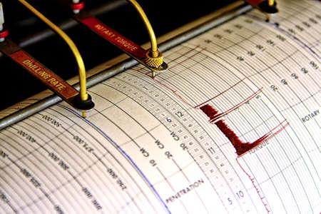 sismogr�fo: Dos pluma sism�grafo para la operaci�n de perforaci�n