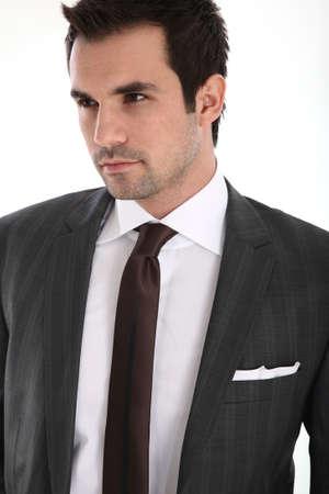 handome: Portrait of handome man in suit