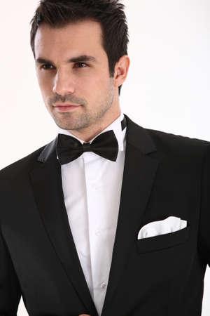 tuxedo man: Handsome caucasian man in tuxedo