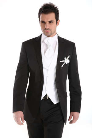 tuxedo man: Handsome uomo caucasico in smoking