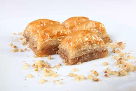Typical turkish dessert Baklava with walnuts Standard-Bild