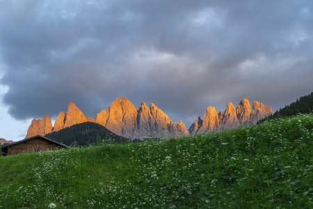 In the Dolomites group Odle di Eores and Odle di Funes  photo