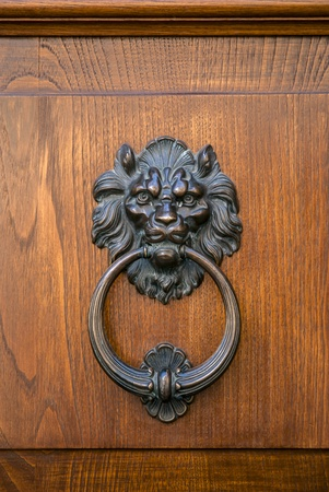 Italian door knocker: lion photo