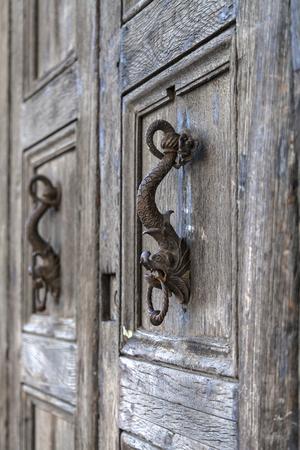 sea monster: Door knocker in the form of the head of  sea monster