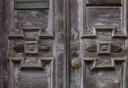 나무 장식 필 링과 오래 된 문
