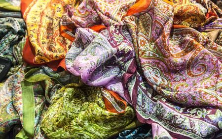 Silk Fabrics Archivio Fotografico