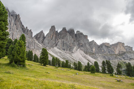declared: Odle di Funes, recently declared World Heritage of humanitas Stock Photo