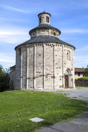 millennial: San Tome, Romanesque church near Almenno San Bartolomeo (Bergamo, Lombardy, Italy) Stock Photo