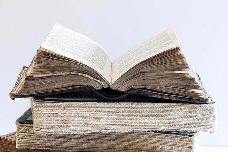 スタックの古い書籍 写真素材