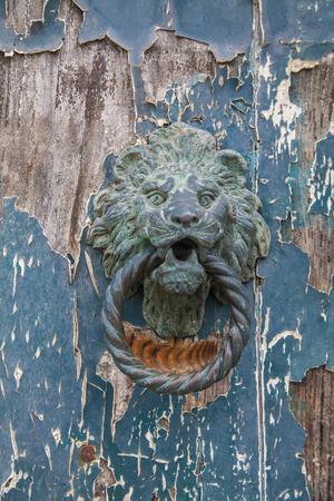 door knocker: Italian door knocker in the shape of a lions head
