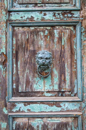 furniture part: Italian door knocker in the shape of a lion