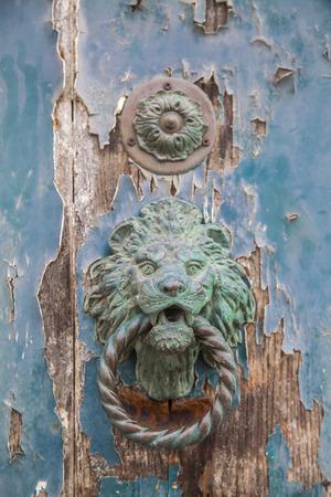 macro film: Italian door knocker in the shape of a lion