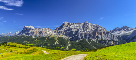 Dolomites: panorama of the Fanes-Senes Фото со стока