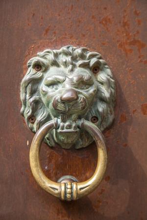 knocker: Italian door knocker: lion Stock Photo
