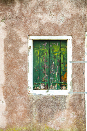 dilapidated wall: Accessibility,  House, Indoors, Iron - Metal, Peeling Off, Rusty, Wood - Material, wall, old, isolated, uninhabited, ivy, abandoned, dilapidated, empty, window Stock Photo
