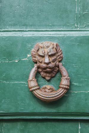 door knocker: Italian door knocker: lion Stock Photo