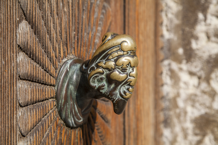 knocker: Italian door knocker Stock Photo